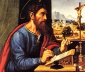 Saint-Paul-Writing-Pier-Francesco-Sacchi-1